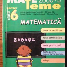 Carte - Petrus Alexandrecu - Mate 2000+3 - Teme - Matematica - clasa 6 - partea 1