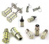 Bec LED 27 SMD H1 H3 H8 H11 T20 P21W 1157 pozitie semnalizare marsarier frana, Universal