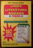 Carte - Prof. Mariana Badea - Limba si literatura romana - Poezia - pentru elevii de liceu