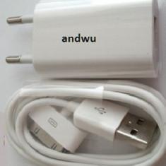 Incarcator priza + cablu date incarcare iPod nano video classic, Incarcator iPod