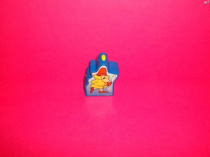 figurina personaj din desene animate din pantera roz ce lumineaza din plastic de la burger king foto mare