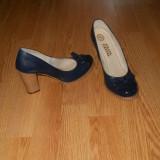 PANTOFI PIELE - Pantof dama, Culoare: Albastru, Marime: 36, Albastru