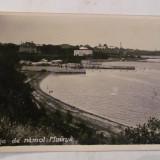 """PVM - Ilustrata Movila """"Plaja de Namol"""" circulata 1936, 3 timbre si 2 stampile"""