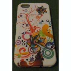 Husa florala silicon iphone 5 + folie display