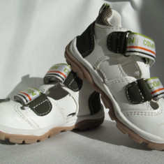 Adidasi copii, Bobbi Shoes, marimea 21 aproape noi, Culoare: Alb, Baieti
