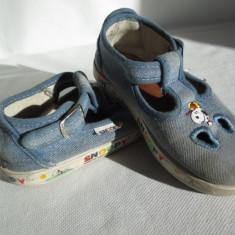 Sandale copii, marimea 25, din bumbac