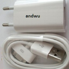 Incarcator iphone 4s + cablu date iphone 4s -promo- - Incarcator telefon iPhone, iPhone 4/4S, De priza