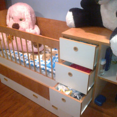 Vand patut bebelus - Patut lemn pentru bebelusi, Maro