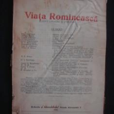 REVISTA VIATA ROMANEASCA - REVISTA LITERARA SI STIINTIFICA - NOEMBRE NO 11 - 1926 ANUL XVIII