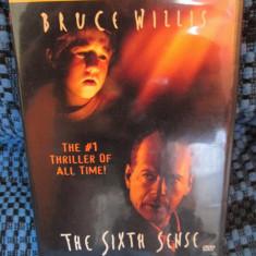 THE SIXTH SENSE - film DVD cu BRUCE WILLIS (original din Anglia, in stare impecabila!!!) - Film Colectie, Engleza