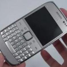 Nokia E6 Silver - Telefon mobil Nokia E6, Gri, Orange