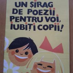 UN SIRAG DE POEZII PENTRU VOI, IUBITI COPII - Ioana Colan - Carte poezie copii