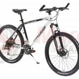 Bicicleta MTB DHS 2687 21V - Model 2012 - Mountain Bike DHS, Aluminiu, Alb
