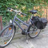 Bicicleta dama, 16 inch, 26 inch, Numar viteze: 7, Otel, Violet
