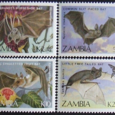 ZAMBIA - LILIECI  4 VALORI, NEOBLITERATE - E0148