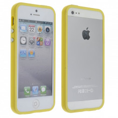 Bumper Case iPhone 5 5S Yelllow - Bumper Telefon, Galben
