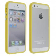 Bumper Case iPhone 5 5S Yelllow - Bumper Telefon, Galben