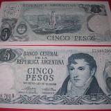 ARGENTINA 1969 - 5 PESOS - UNC