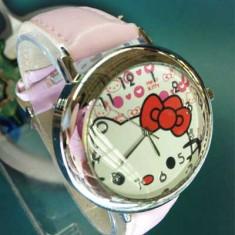 LIVRARE GRATUITA ! DRAGUT CEAS HELLO KITTY, IDEAL PENTRU TINERE MODERNE - Ceas dama Hello Kitty, Quartz, Analog, Nou