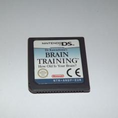 Joc Nintendo DS - Dr. Kawashima's Brain Training - original - Jocuri Nintendo DS Altele, Actiune, Toate varstele, Single player