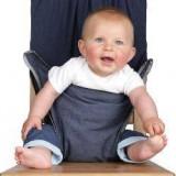 Scaun de masa textil pentru bebelusi TotSeat Denim