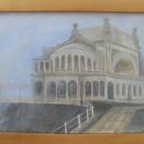 Pictura in ulei, CAZINOUL DIN CONSTANTA - Pictor roman, Peisaje, Realism