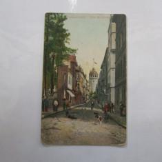 Carte Postala Constantinopole Tour de Galata