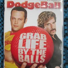 DODGE BALL - film COMEDIE DVD - cu Vince VAUGHN si Ben STILLER (original din Anglia, in stare impecabila!!!)