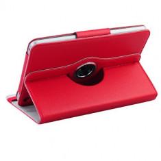 Toc Ipad mini piele roz apple husa rotativa + folie protectie ecran + expediere gratuita iPad mini - Husa Tableta