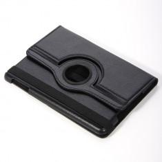 Toc Ipad mini piele neagra apple husa rotativa + folie protectie ecran + expediere gratuita iPad mini