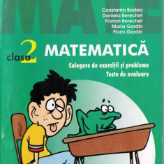 2000 + 3 MATEMATICA - CULEGERE DE EXERCITII SI PROBLEME. TESTE DE EVALUARE PT CLS A II A de CONSTANTIN BADEA  ED. PARALELA 45
