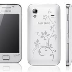 Vand Samsung Galaxy Ace La Fleur Cu Toate Accesoriile - Telefon mobil Samsung Galaxy Ace, Alb, Neblocat