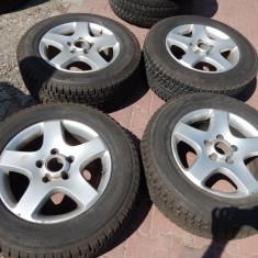 Set jante si cauciucuri dunlop de iarna VW tuareg 17 inch, 5x130 - Janta aliaj Volkswagen, 7, 5, Numar prezoane: 5