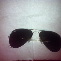 Ochelari de soare ray-ban model aviator originali, Unisex, Verde, Nespecificata, Metal, Protectie UV 100%
