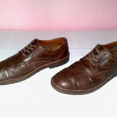 PANTOFI SANDALE INCHISE AM COMPANY PIELE NATURALA NR 43 INTERIOR 27.5 CM - Pantofi barbat, Culoare: Maro