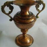 Vaza cupru cu toarte - Metal/Fonta