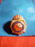 Insigna veche -Politie - Spania  , mica , h=2 cm , in etui