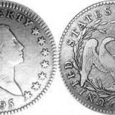 Moneda dollar replica 1795, 1851, 1878, 1879, 1921 pret bun