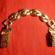 Ornament metal aurit pt. Curea, L= 19, 1 cm - Curea Dama