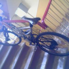 Vand bicicleta Decathlon Rockrider full suspension - Mountain Bike, Numar viteze: 18, Carbon, Negru-Gri-Portocaliu, Discuri, Cu amortizor