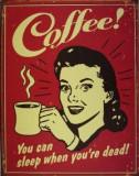 Reclama metalica vintage - Cofee !