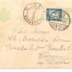 CPI (B2901) CARTE POSTALA, CIRCULATA 1931, CAINENI VALCEA ARGES, PERCEPTOR - Carte Postala Oltenia dupa 1918, Printata
