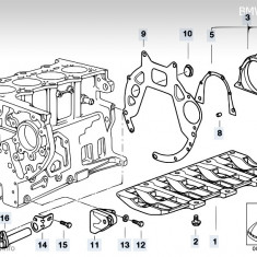 Piese motor BMW 320d E46 136 cp : bloc, pistoane, biele, etc. - Bloc motor