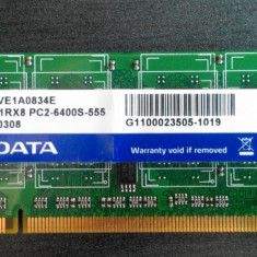 1GB RAM Laptop ADATA PC2 6400, 800Mhz, mod. ADOVE1A0834E - Memorie RAM laptop A-data, DDR2