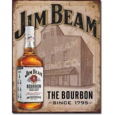 23.Reclama metalica vintage - JIM BEAM - Cutie Reclama