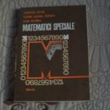 Matematici speciale - Garofita Pavel - Carte Matematica