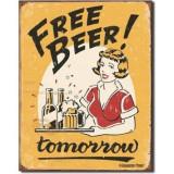 Reclama metalica vintage - FREE BEER