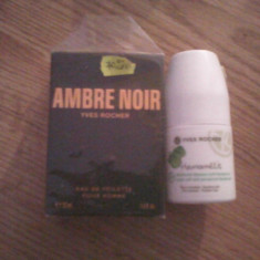 Vand set parfum barbatesc ambre noir si roll on