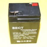 ACUMULATOR cu Pb PLUMB tensiune 6V, 4.5Ah ideali pentru masini electrice