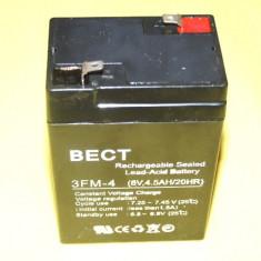 ACUMULATOR cu  Pb PLUMB tensiune 6V , 4.5Ah ideali pentru masini electrice